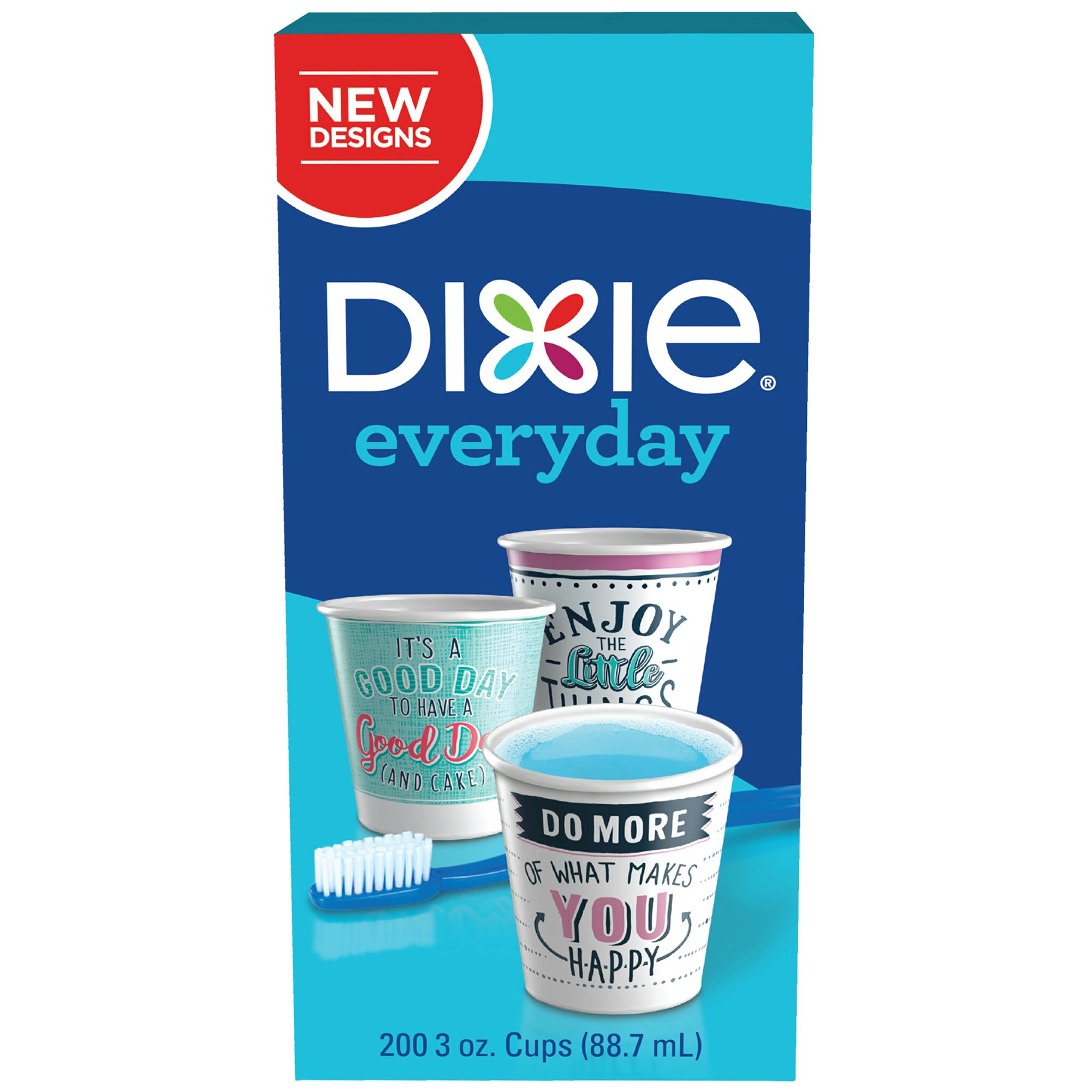 Dixie Everyday Disposable Bath Cups, 3 Oz, 200 Count, Augmented Reality Paper Cups by Dixie