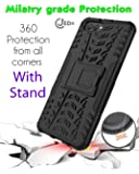 JEDx Hybrid Armor Kickstand 2 in 1 Shockproof Case for Huawei Honor V10 (Black)