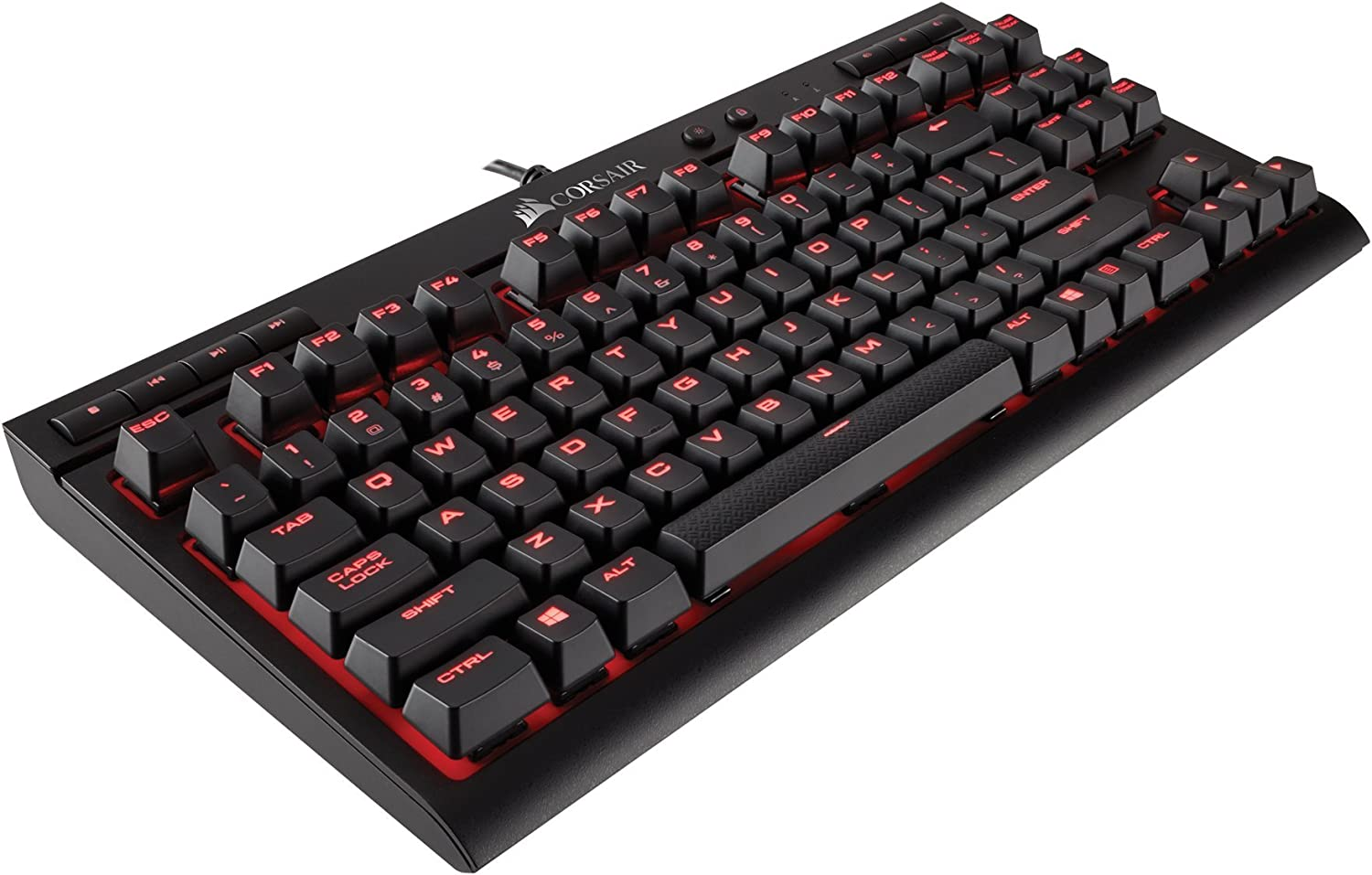 Corsair K63 Compact Mechanical Gaming Keyboard - Backlit Red LET - Linear & Quiet - Cherry MX Red