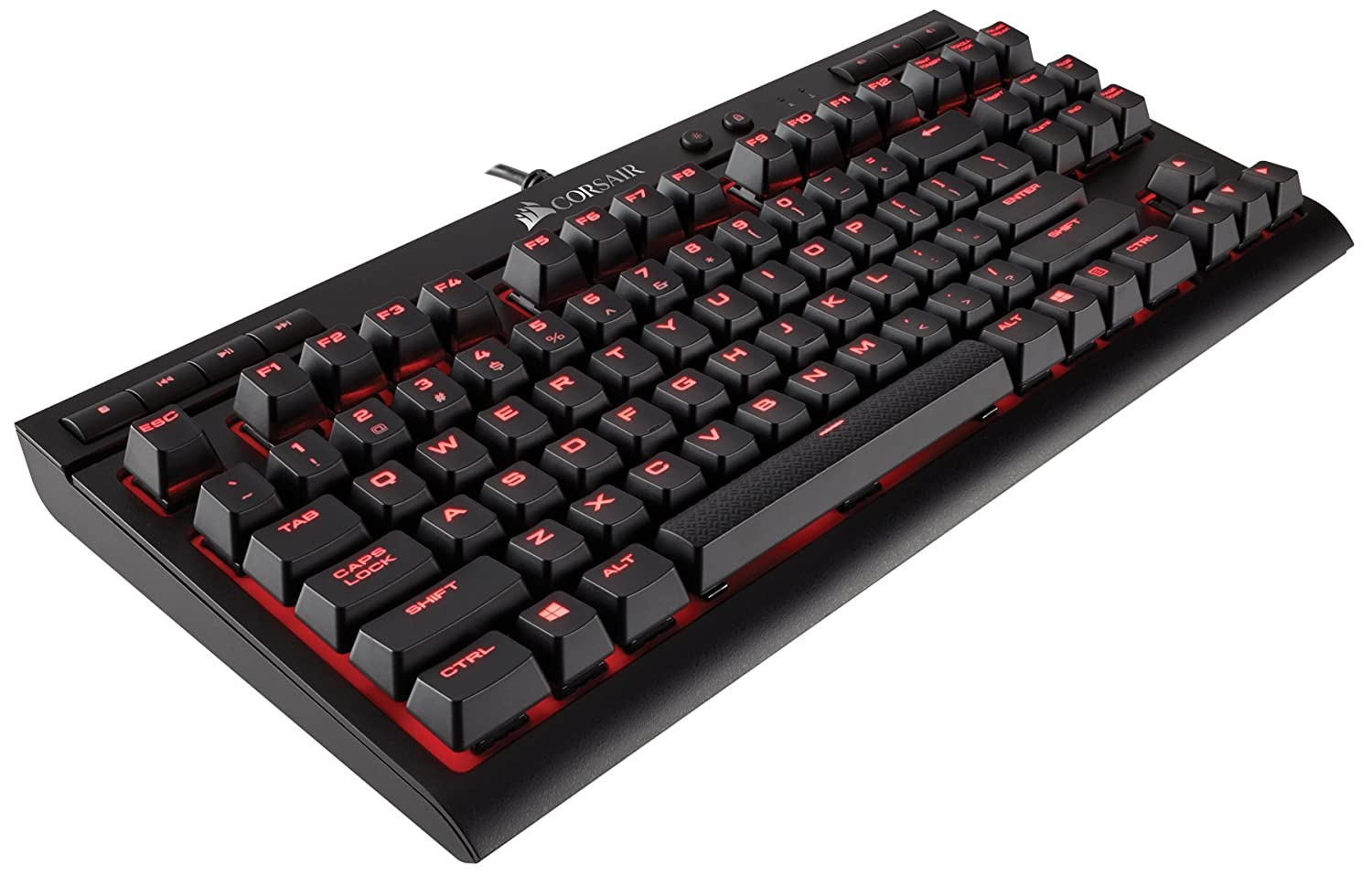 Teclado Mecanico Compacto CORSAIR K63 Cherry MX Red con Cable