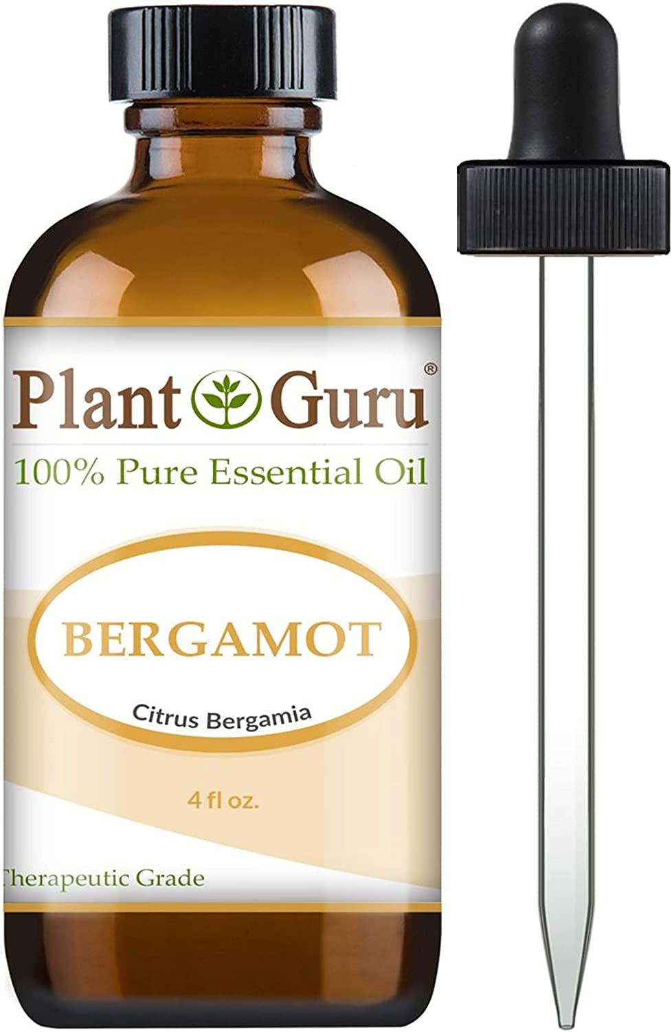 Bergamot Essential Oil 4 oz 100% Pure Undiluted Therapeutic Grade.