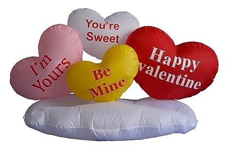 b60519b3c0394 Amazon.com: 5 Foot Valentine's Inflatable Hearts & Cloud - Yard Blow ...