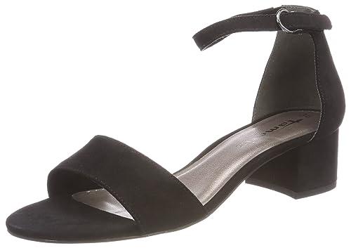 Tamaris 28028 Sandali con Cinturino alla Caviglia Donna Nero Black 40