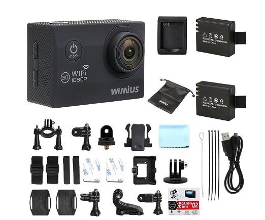 """35 opinioni per Action Cam Wifi WiMiUS Q2 Full HD 1080P Videocamera Subacquea 2.0"""" LCD schermo"""