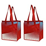 Amazon Price History for:2 Piece Earthwise Insulated Grocery Bag - Large Hot Cold Thermal Shopping Tote w/zipper closure