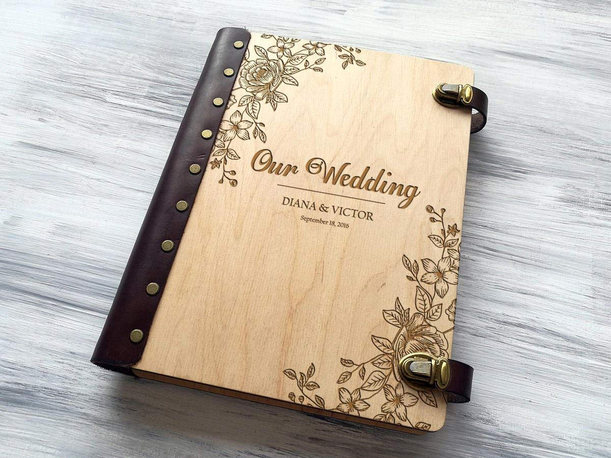 Wedding Photo Album Personalized Photo Album Custom Wedding Gift Wooden Photo Album Wedding Gift Ideas Gift for Couple Rustic Photo Album Engraved Photo Gifts Wedding Anniversary Gifts for Parents