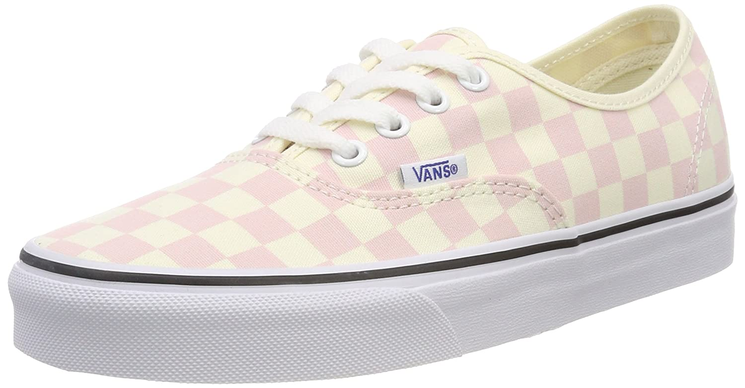 Vans Women's Authentic Trainers, Pink (Checkerboard) Chalk Pink/Classic White Q8l, 5.5 UK 38.5 EU