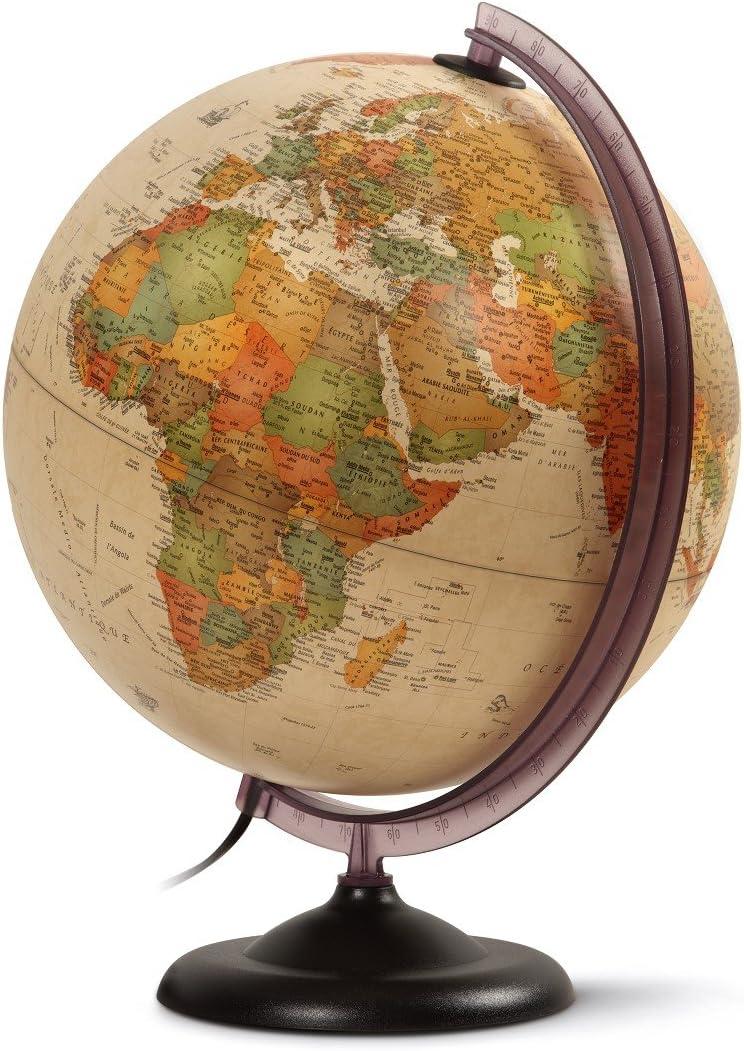 Q-Connect - Globe Type Antique Géographique Diamètre 30cm 71692
