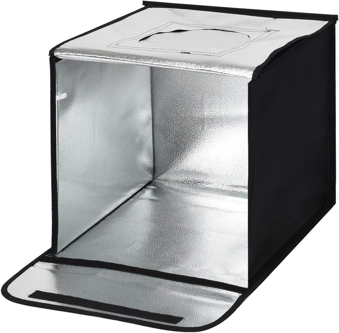 COSTWAY Caja de Luz de Fotografía Estudio Fotográfico Portátil con 5 Fondos y 2 Tiras de LED (40x40x40cm): Amazon.es: Electrónica