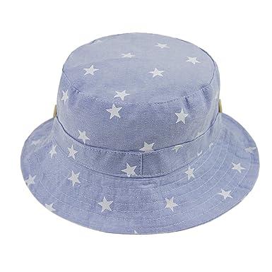 0cb88d5d37af Bébé Chapeau de soleil Pliable Bob en Coton Printemps Eté Bonnet de Bassin  Seau Motif Etoile