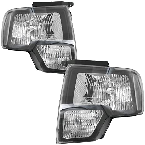 AJP Distributors 2009 2010 2011 2012 2013 2014 09 10 11 12 13 14 For Ford  F150 F-150 Factory Style Replacement Headlights Lights Lamps Assembly Left