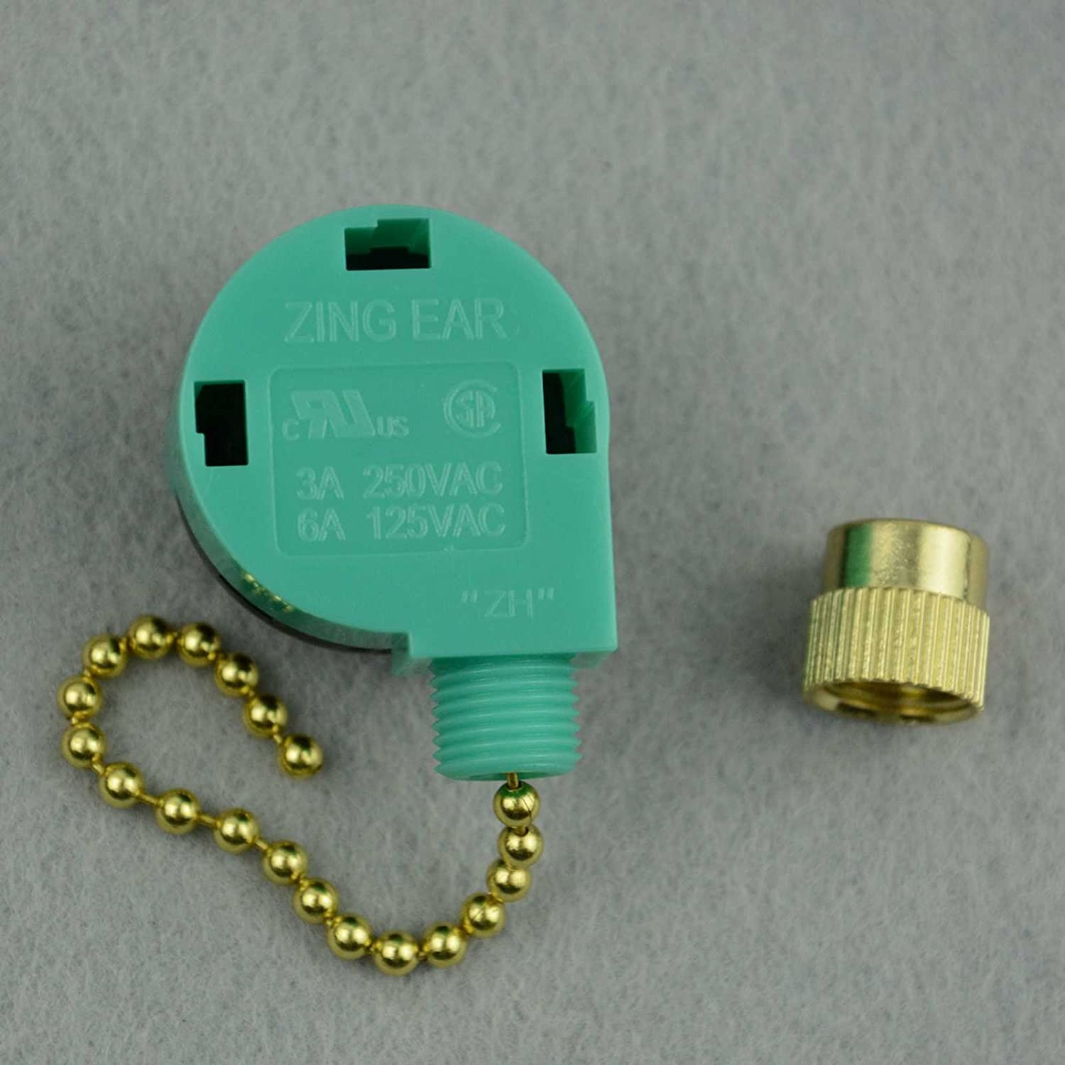 Zing Ear Ze 268s6 208s6 3 Speed Antique Brass Replacement 3speed Ceiling Fan Switch7702100 The Home Depot Kitchen