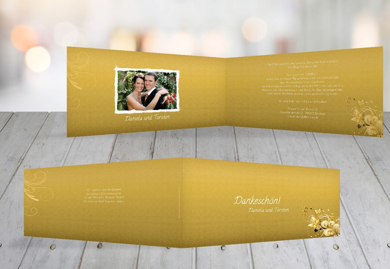Kartenparadies Danksagung für Hochzeitsgeschenke Hochzeit Danke Din Liebeswunder, hochwertige Danksagungskarte Hochzeitsglückwünsche inklusive Umschläge   10 Karten - (Format  215x105 mm) Farbe  DunkelGelb B01MR8K423 | Ideales Geschenk