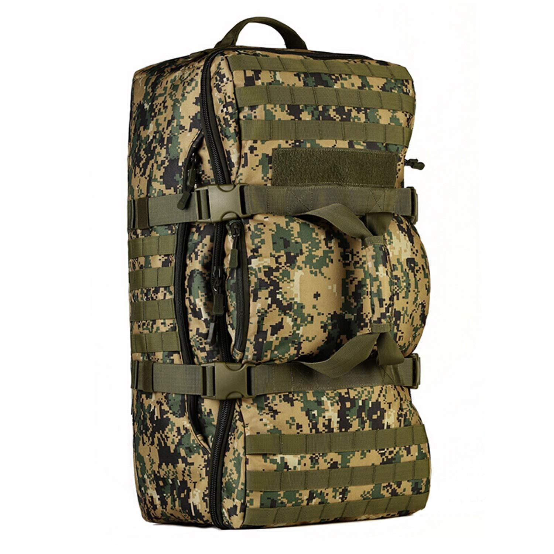 60L Wild Sports Backpack, Waterproof Camping Hiking Knapsack, Hiking Bicycle Travel Hiking Travel Bag (Color : Digital)