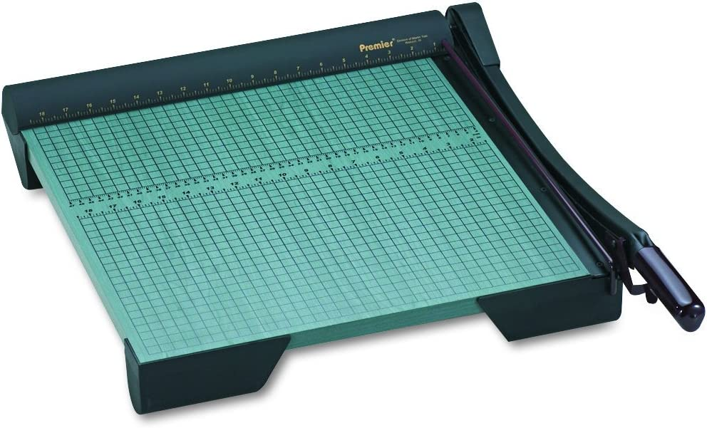 """Martin Yale W18 Premier Heavy Duty Paper Trimmer, 18"""" Cutting Length, Base Size 19.875w X 22d X 4h, Cuts Up To 20 Sheets at Once"""