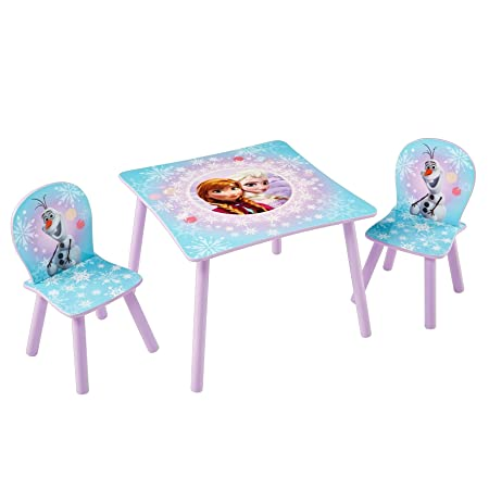 Disney Frozen Kids Table and 2 Chair Set by HelloHome  sc 1 st  Amazon UK & Disney Frozen Kids Table and 2 Chair Set by HelloHome: Amazon.co.uk ...