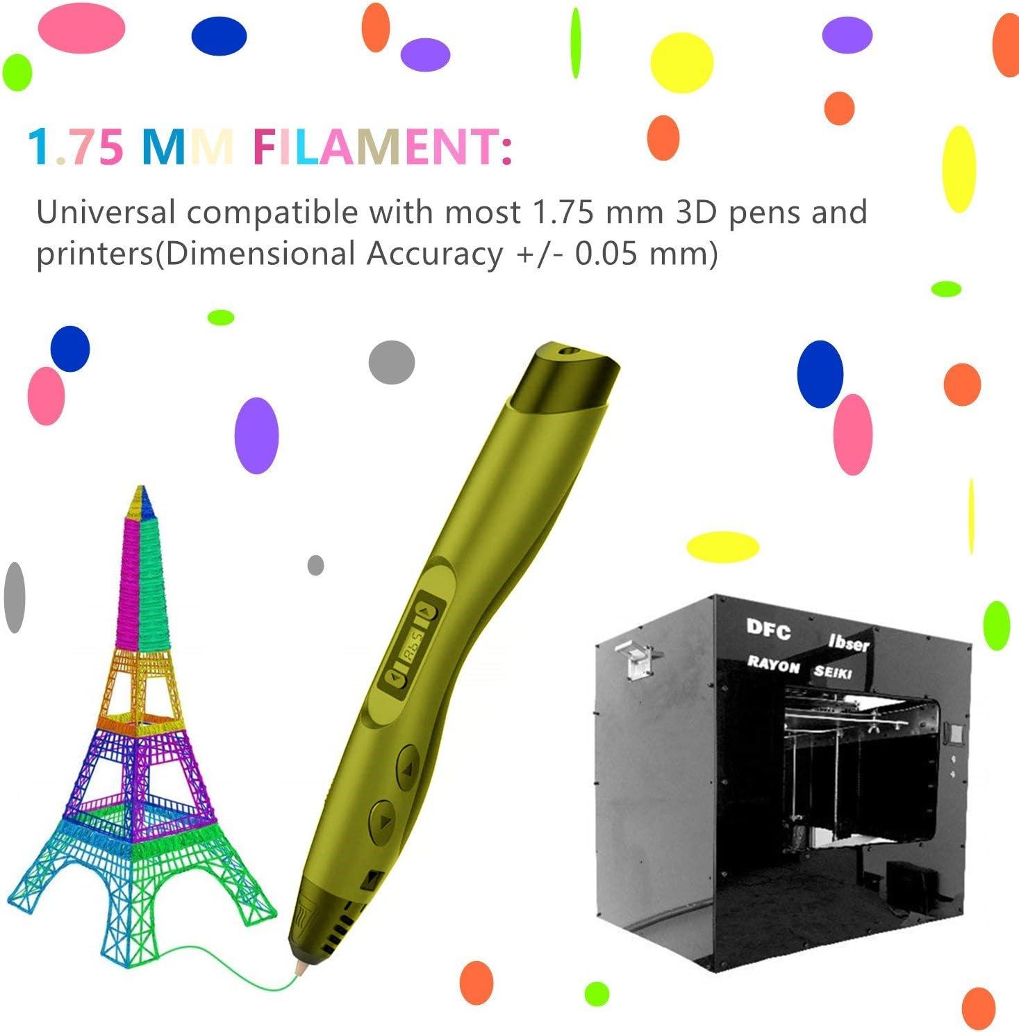 Filamento 3D PLA 24 Colores TICOSH 3D Pluma Filamento 1.75mm para ...