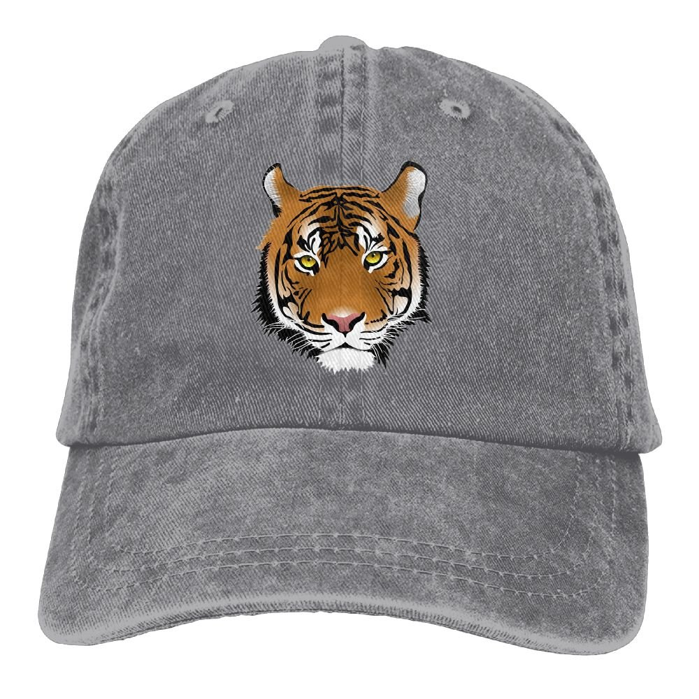 XZFQW Big Tiger Face Trend Printing Cowboy Hat Fashion Baseball Cap For Men and Women Black