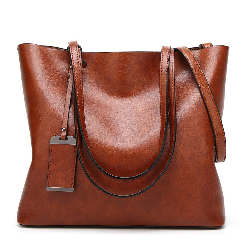 453cc82c10ad3 Amazon.com  Oil Wax Leather Women Handbag Women S Messenger Crossbody Bag  Casual Tote Leather Female Shoulder Bag