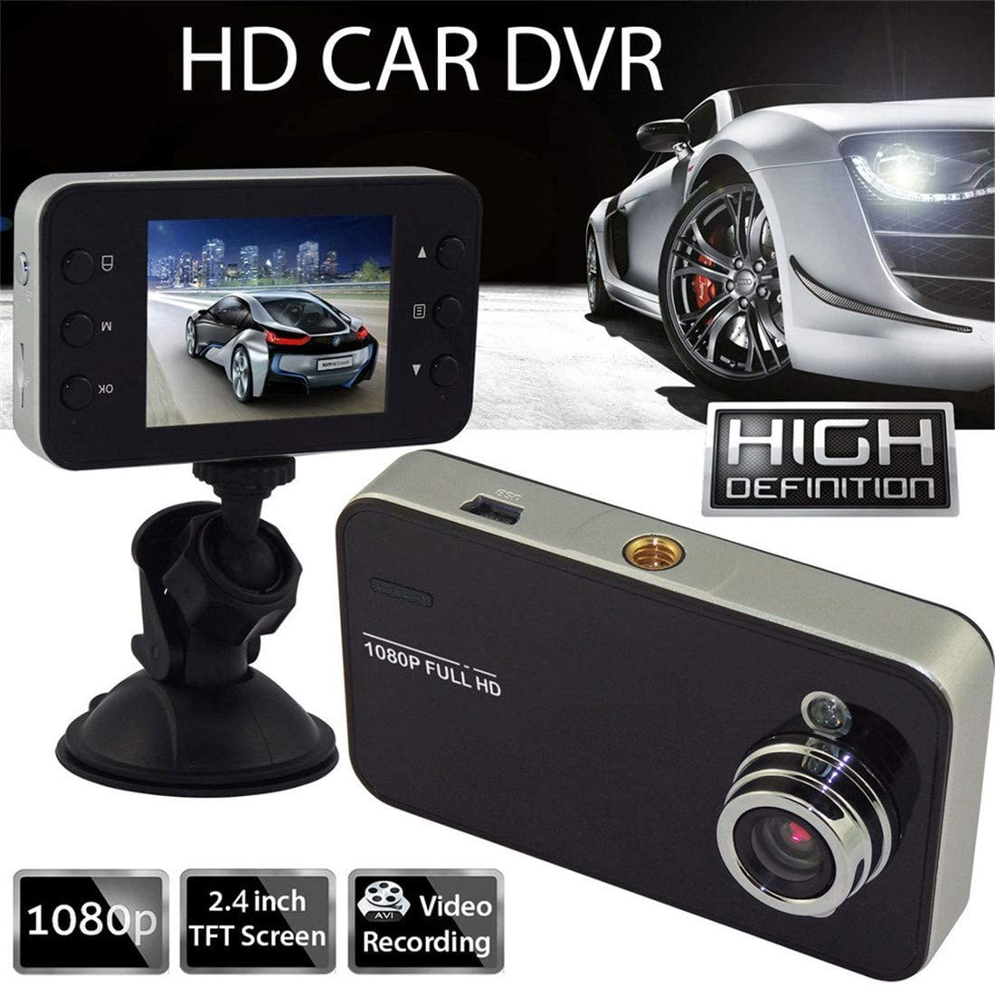 Freeby 1080P Full HD Car DVR 2.4/′/′ TFT LCD Screen Compact Camera Recording Dash Cam Camcorder Motion
