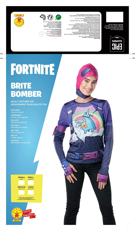 Fortnite - Disfraz camiseta Brite Bomber para adulto, talla ...