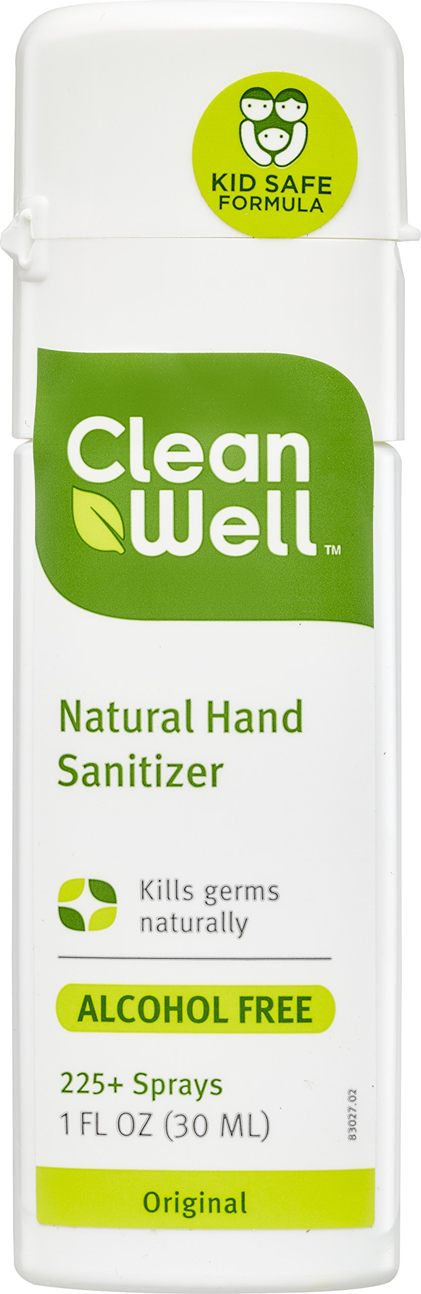 CleanWell Natural Hand Sanitizer Spray - Original Scent, 1 Ounce (Pack of 6)