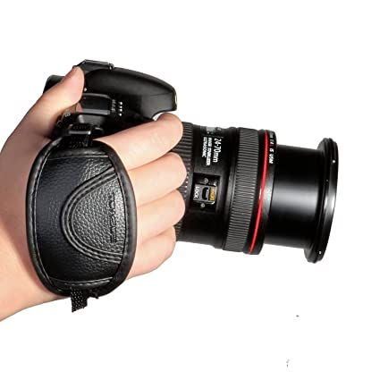 amazon com toazoe leather hand grip strap for canon eos t5i t4i