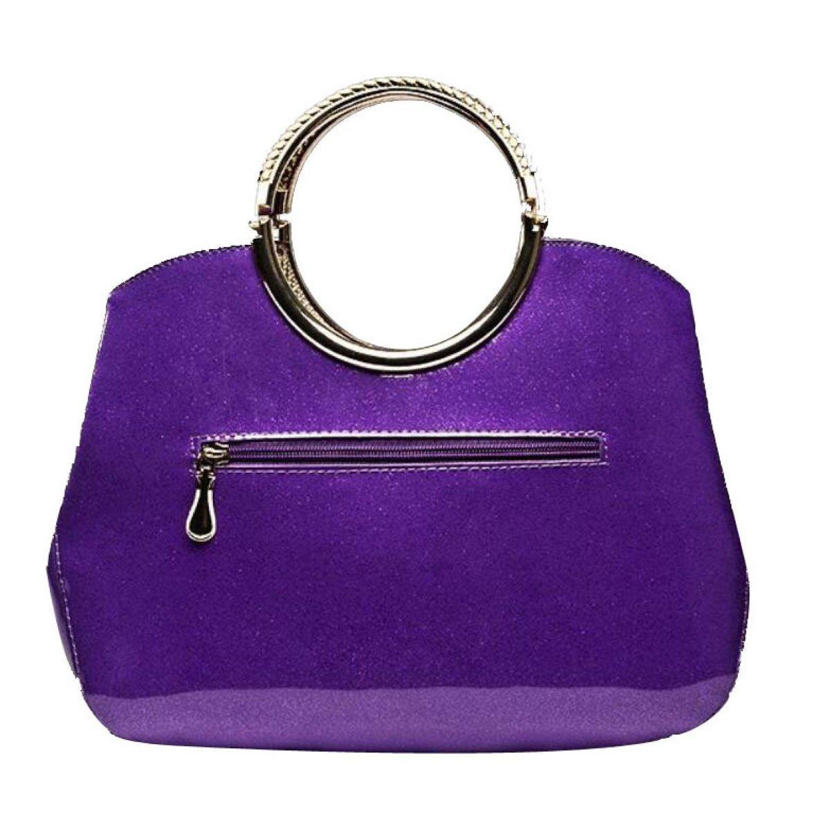 Bolso De Hombro Del Bolso De Hombro De La Charol De Las Mujeres,Purple: Amazon.es: Jardín