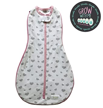 7907b658903f Amazon.com  Woombie Grow with Me Baby Swaddle - Convertible Swaddle ...