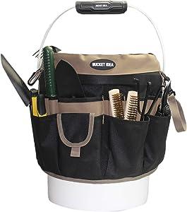 Bucket Idea Bucket Tool Organizer With 35 Pockets Fits to 3.5-5 Gallon Bucket (Khaki) …
