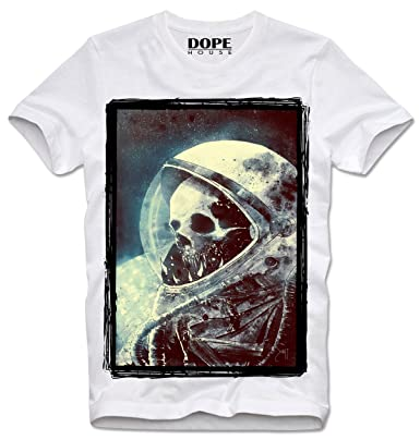 a97c30f99b26a4 DOPEHOUSE T-Shirt Skeleton Skull Astronaut Space Universe Totenkopf Hipster  Swag Dope, S