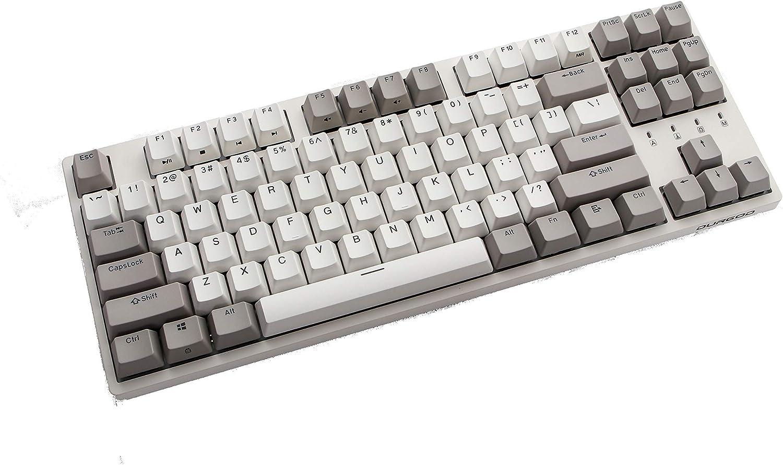 Durgod Taurus K320 TKL Mechanical Gaming Keyboard - 87 Keys - Double Shot PBT - NKRO - USB Type C (Cherry Silent Red, White)