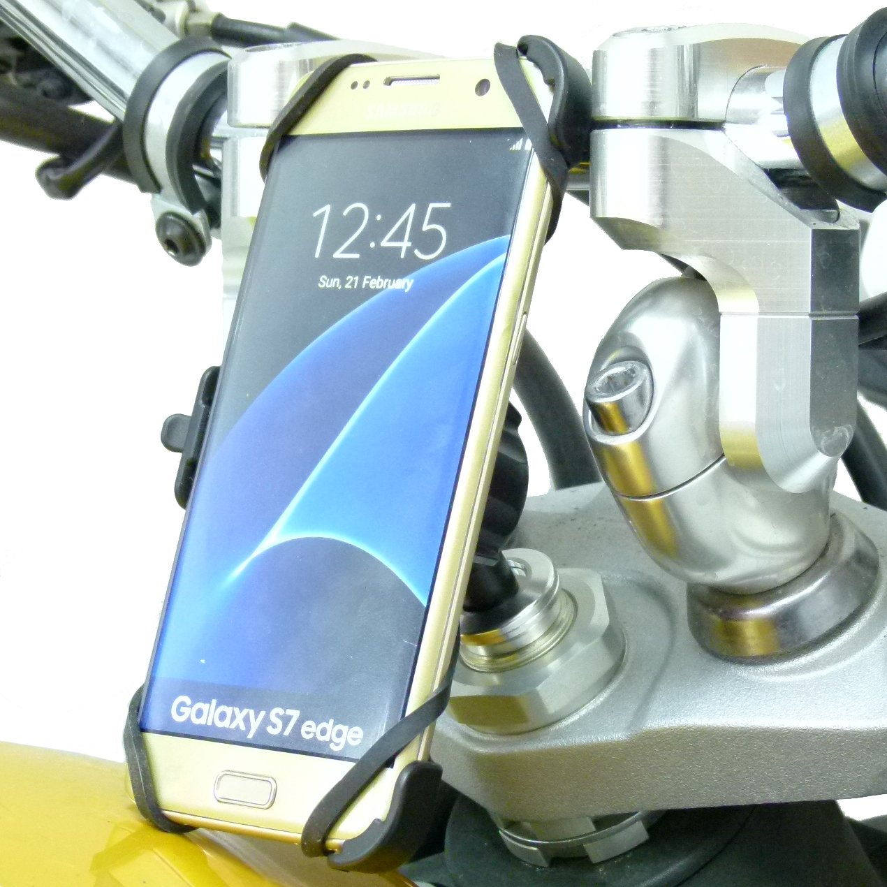 BuyBits Dedicated 13.3-14.7mm Fork Stem Sports Bike Mount for Samsung Galaxy S7 Edge by Buybits (Image #1)