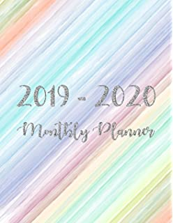 2019-2020 Weekly And Monthly Planner: Organizer, Agenda and ...