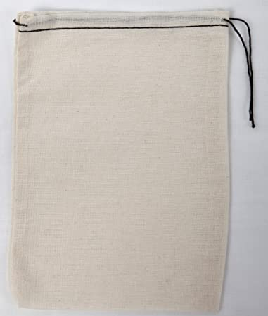 911f07897d20 Made in the USA 100% cotton muslin drawstring bags 100 count pack (black  hem black drawstring, 5x7)