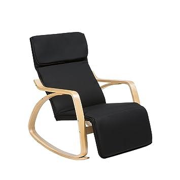 Schaukelstuhl Modernes Design Schwarz Amazon De Kuche Haushalt