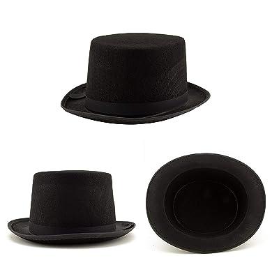 Adorox Sleek Felt Black Top Hat Fancy Costume Party, No Color, Size No Size: Toys & Games