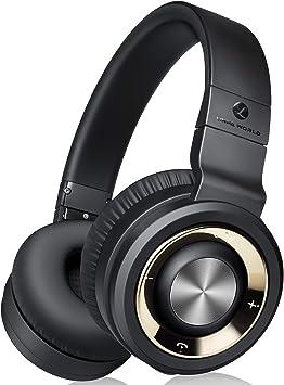 Auriculares Diadema Bluetooth Inalambricos, 30hrs de Duración de la Batería, Hi Fi Sonido Estéreo con Conexión a Bluetooth Inalámbrico y Audio Cable