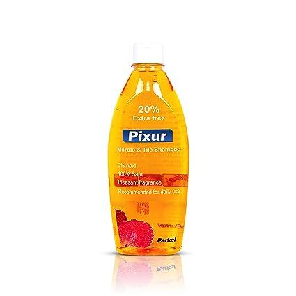 Pixur Marble & Tile Shampoo Orange: 600 ML/Floor Cleaner/Liquid / 0% Hcl Acid/Safe on all type floor/Eco Friendly: Amazon.in: Health & Personal Care