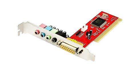 Speed Link SL-8861-SRD-B - Tarjeta de Sonido Interna (4 Puertos para Efectos 3D, 48 KHz)