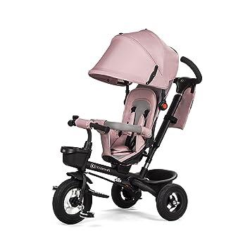 Kinderkraft Aveo - Triciclo con ruedas de goma para niños de 9 meses a 5 años, Rosa: Amazon.es: Bebé