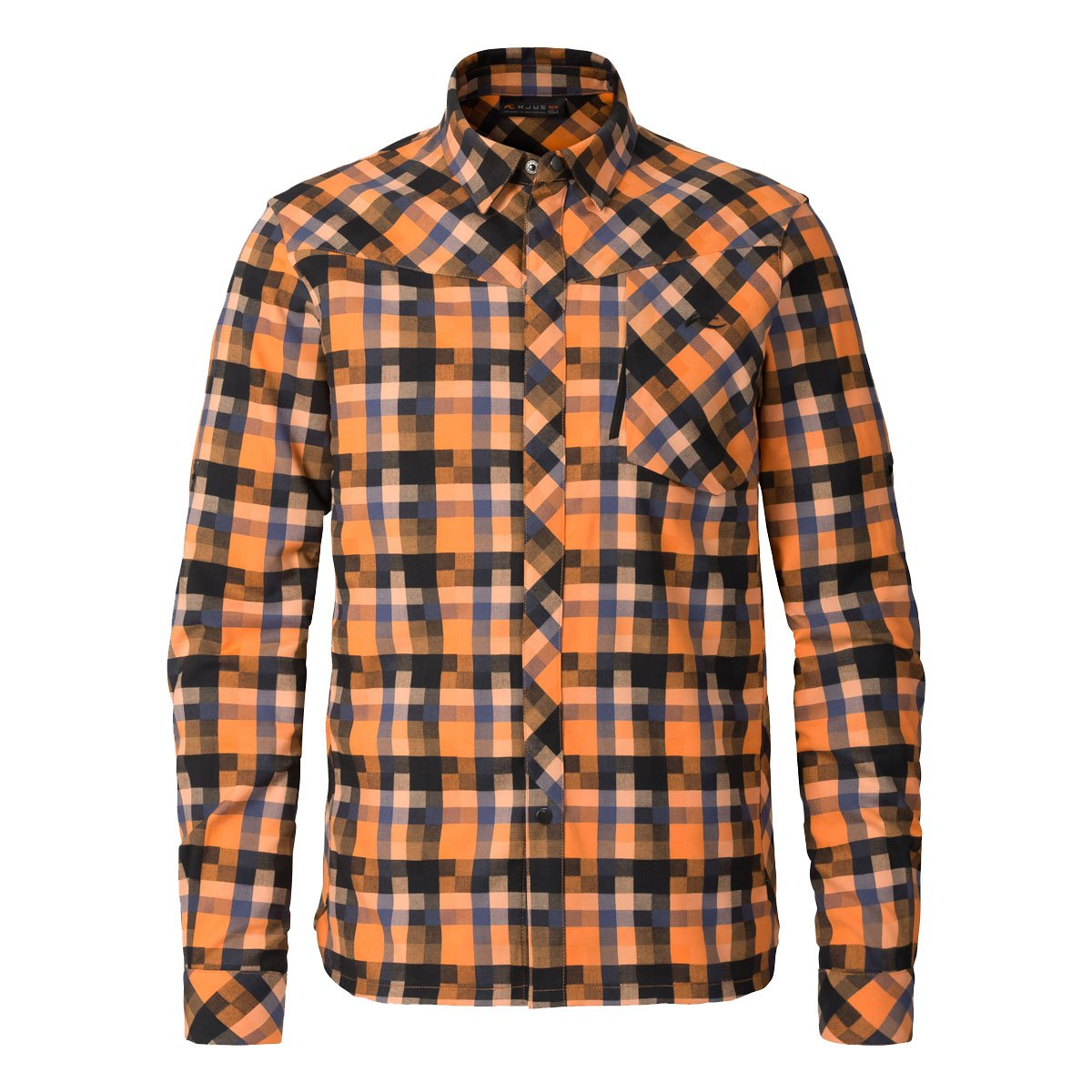 KJUS Herren Flanellhemd Funktionsshirt Men FRX Shirt MS25-A12 Orange