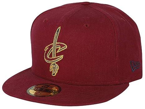 New Era NBA CLEVELAND CAVALIERS Chainstitch 59FIFTY Game Cap  Amazon ... 673a3c88b708