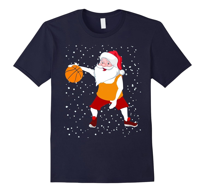 basketball Santa Claus Christmas T Shirt