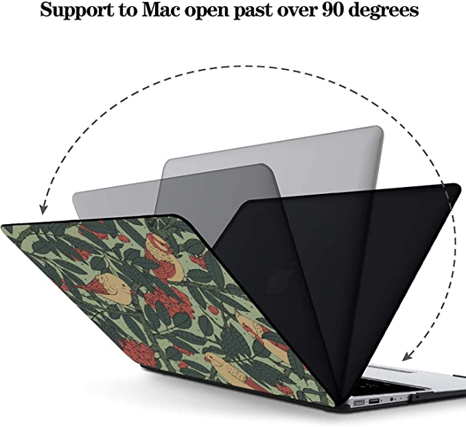Laptop Hard Cover Yellow Green Leaf Pheasant Flower Plastic Hard Shell Compatible Mac Air 11 Pro 13 15 MacBook Cover 15 Inch Protection for MacBook 2016-2019 Version