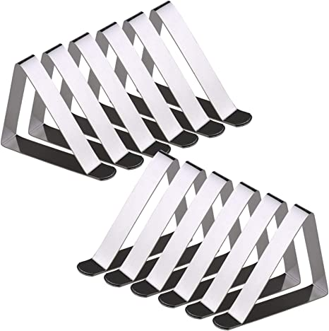 Adjustable Stainless Table Cloth Clips For Jumbo Table Cover /& Skirt Holders