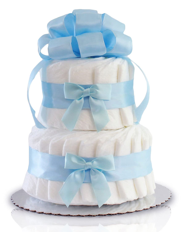 Amazon.com: Clásico Pastel baby shower pañal para tartas (2 ...