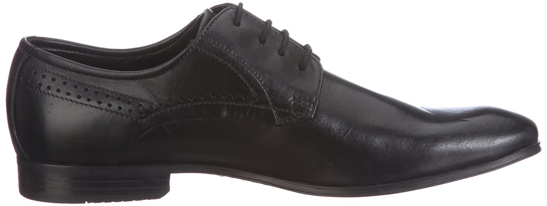 Bugatti Mattia U18011 - Zapatillas clásicas de napa para hombre, color negro, talla 40