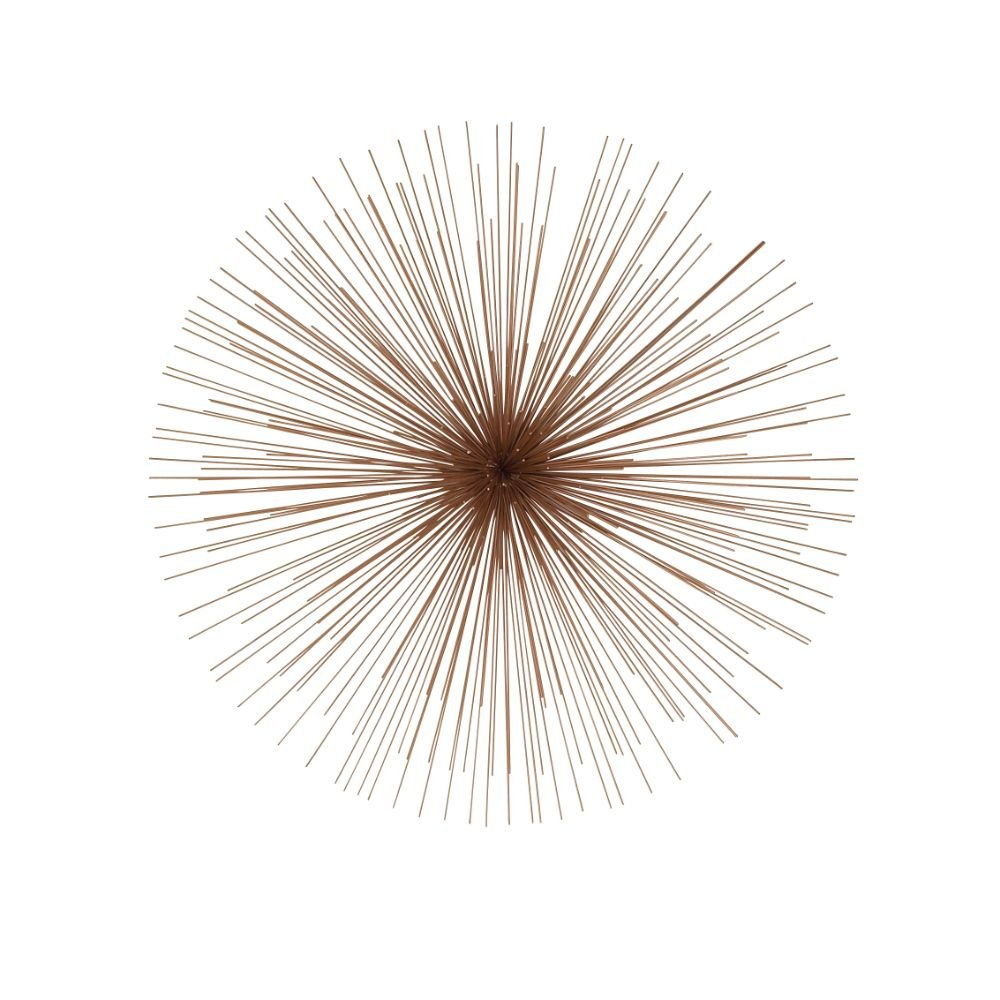 "CDM product Deco 79 50393 Metal Wire Wall Decor, 32"", Copper small thumbnail image"