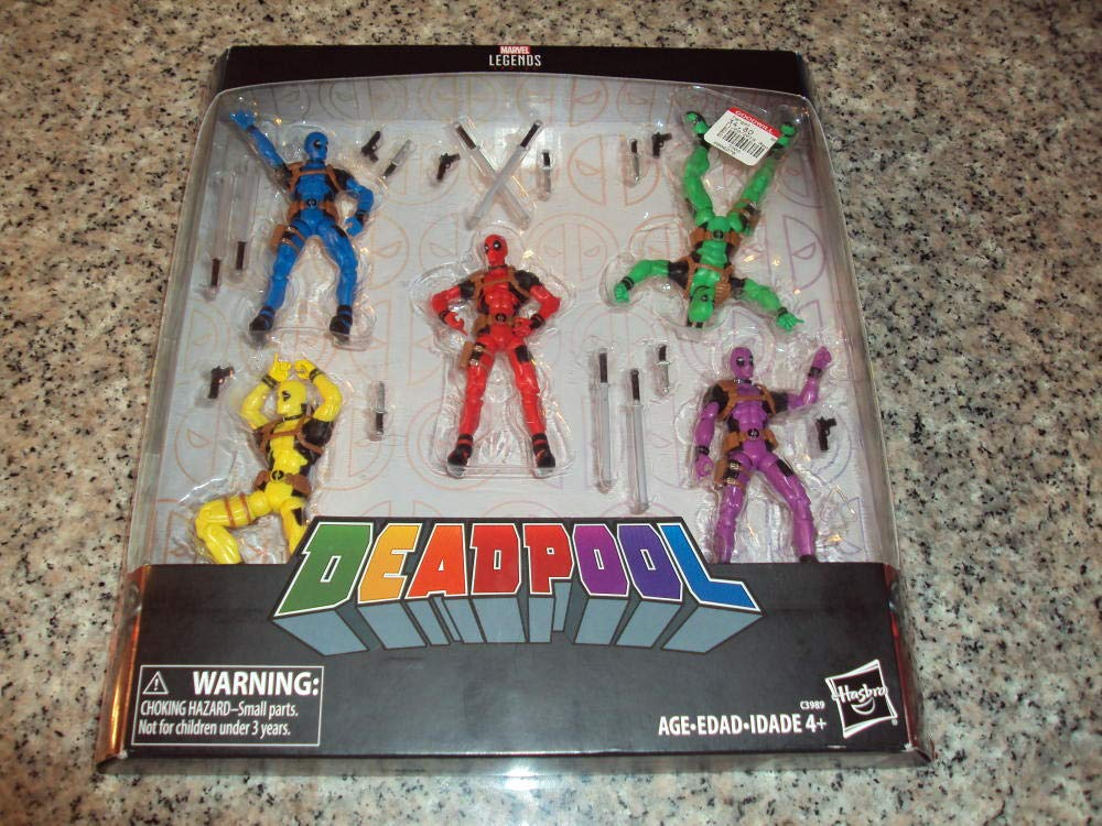 NEW Marvel Legends Deadpool Rainbow Squad 5 Pack 3.75 Inch Figures